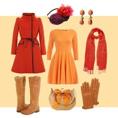 Orange/Red - Warm/True/Tawny Spring, created by goldkehlchen on Polyvore