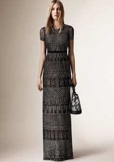 Burberry Prorsum - A cap-sleeved dress will highlight Jenner's toned physique and enviable waist with elegance, while the subtle motif adds a whimsical touch.