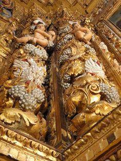 Catedral Basilica da Salvador - Bahia -detalhe colunas do Altar