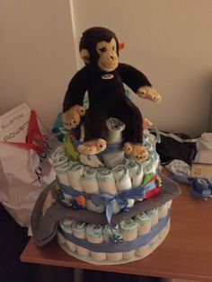 Make your friend smile with a great big gift like a diaper cake for expecting moms  Email for a quote Zurichgifts@gmail.com