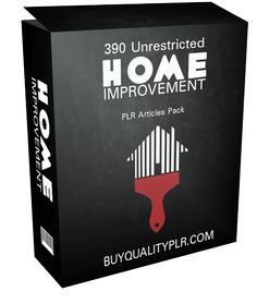390 Unrestricted Home Improvement PLR Articles Pack - http://www.buyqualityplr.com/plr-store/390-unrestricted-home-improvement-plr-articles-pack/.  #HomeImprovement #HomeImprovementtips #WoodFlooring #WoodworkingTools #WallpaperRemoval 390 Unrestricted Home Improvement PLR Articles Pack In this PLR Content Pack You'll get 360 Unrestricted Home Improvement PLR Articles Pack with Private Label Rights to help you dominate the Home Improvement....