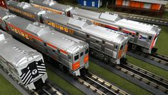 MTH Spotlight http://mthtrains.com/railking/spotlight/10_2015/c On the rails today the MTH RailKIng O Gauge RDC Budd Car Sets. These 2-Car Sets ,Power Car and Coach, come in Mass Bay 30-20302-1, Port Authority of Allegheny County( PATrain ) 30-20303-1, Pennsylvania-Reading Seashore Line 30-20304-1, and Amtrak 30-20303-1 road names. These RailKing Budd Car Sets operate on O-31 curves and each of these 2-Car Sets has a MSRP of $399.95. Ask your MTH Dealer about getting one today.