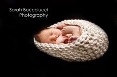 simple baby cocoon - photo prop