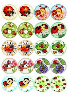 Lindassss Bottle Cap Art, Bottle Cap Crafts, Bottle Cap Images, Rock Crafts, Diy And Crafts, Crafts For Kids, Paper Crafts, Kindergarten Art Lessons, Ladybug Crafts