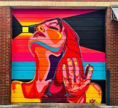 New illson Street Art found in Colorado Murals Street Art, Street Wall Art, Street Art Graffiti, Graffiti Artwork, Painting Inspiration, Art Inspo, Spray Paint Artwork, Abstract Portrait Painting, Urbane Kunst