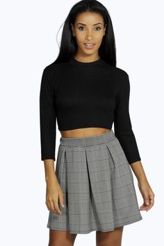 Women's Clothing Objective Miss Selfridge Womens Black Leather Look Flared Skater Skirt Elasticated Size 12