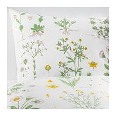 STRANDKRYPA Duvet cover and pillowcase(s), floral patterned, white - floral patterned/white - Full/Queen (Double/Queen) - IKEA
