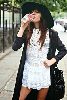short dress, long jacket