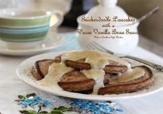 Melissa's Southern Style Kitchen: Snickerdoodle Pancakes with a Warm Vanilla Bean Sauce