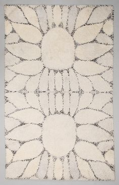 """RITVA PUOTILA, RYA / MATTA, """"Whiteflower"""", Oy Finnrya Ab. 272 x 169 cm."""