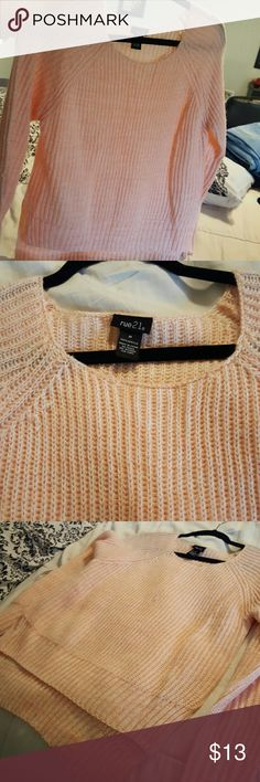 RUE 21 SWEATER Light pink so pretty IMO.. medium. Rue 21 Tops Sweatshirts & Hoodies