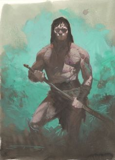 fuckyeahesadribic: Conan the Barbarian by Esad Ribic Character Concept, Character Art, Concept Art, Character Design, Comic Book Artists, Comic Books Art, Comic Art, Marvel Vs, Fantasy Warrior