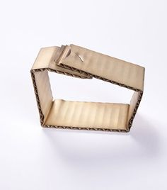 Wellpappe silver, gold bracelet 2015David Bielander  Gold and silver formed to look like cardboard