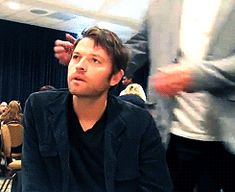 Jensen trolling Misha during an interview. lolz
