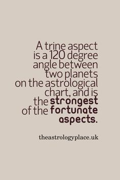 Trine Aspect | #trines #trineaspect #chartaspects #astrology
