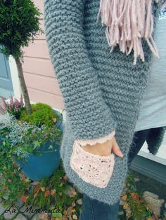Diy And Crafts, Arts And Crafts, Fun Projects, Handicraft, Knit Cardigan, Arm Warmers, Sewing Crafts, Knit Crochet, Embroidery