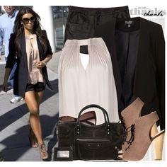 767. Celebrity Style: Kim Kardashian, created by #nastyaafanasova on #polyvore. #fashion #style Diane von Fürstenberg Alexander Wang