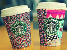 I really wanna sit down in a Starbucks one day and just draw on my cup with a bunch of colored markers. Hopefully it would look as nice as this, haha :) #inspiration #art #creativity #coffeelovers