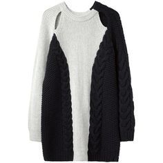 3.1 Phillip Lim Boxy Cable Sweater ($473) ❤ liked on Polyvore