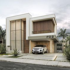 Modern Villa Design, Modern Exterior House Designs, Modern Tiny House, Modern Architecture House, Dream House Exterior, Modern House Plans, Bungalow House Design, Small House Design, Modern Townhouse