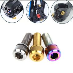 Bike Bicycle Disc Brake Caliper Bolts Titanium Screws With Washer Gasket Buy Bicycle, Bike, Bicycle Components, Cool Bicycles, Brake Calipers, Washer, Fasteners, Retro, Accessories