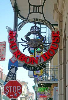 Dickie Brennan's Bourbon House on Bourbon Street in New Orleans