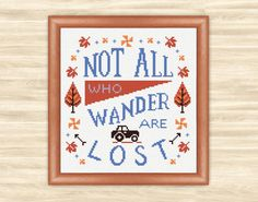 Buy 2 get 1 free Lost Cross Stitch inspirational words not all