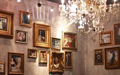 """WHO: Gin Palace WHAT: Gin WHERE: 10 Russell Place, Melbourne """"From its plush gothic décor to table service, the bar delivers the perfect first impression. Gin Palace Melbourne, Melbourne Bars, Gin Bar, Gothic, Gallery Wall, Plush, Places, Frame, Table"""