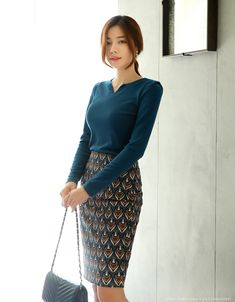 Korean Women`s Fashion Shopping Mall, Styleonme. Korean Eye Makeup, Asian Makeup, Asian Woman, Asian Girl, Ethnic Print, Asian Beauty, Natural Beauty, Beautiful Asian Women, Office Fashion