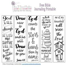 Bless It Forward Ministries - Free Printables Scripture Cards, Bible Scriptures, Bible Art, Scripture Journal, Bible Journaling For Beginners, Art Journaling, Bible Bookmark, Bible Illustrations, Bible Coloring Pages