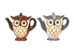 {Owl Teapot - Set of 2} by Foreside - cute little owl teapots! | found on hautelook.com