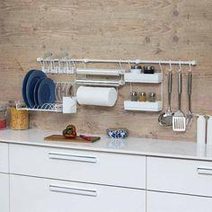 Cook Premium Kit 5 - Branco/Branco - Sua Cozinha muito mais organizada e bonita. Confira todas as cores. #aramado #cozinha #organização