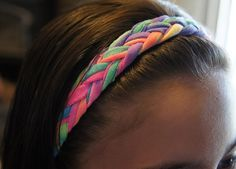 Braided headband made from recycled t-shirts!