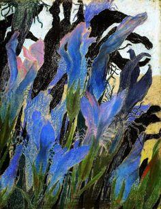 Irises, 1904 by Stanisław Wyspiański on Curiator, the world's biggest collaborative art collection. Art Et Illustration, Illustrations, Art Floral, Canvas Online, Digital Museum, Art Nouveau, Collaborative Art, Art Database, Oil Painting Reproductions