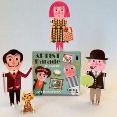 NEW * Artist Parade 3D puzzles, pack of 12 - Ingela P Arrhenius
