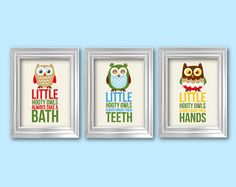 3D Bathroom Rules Art Kids Bathroom Decor Set Of 3 8X10 Kids Bathroom Wall  Art Choose Your Color Home Decor Wall Art Christmas Gift | Bathroom Decor  Sets, ...