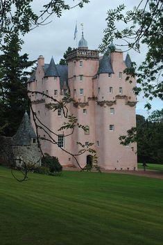Craigievar Castle, Aberdeen, Scotland photo via charlotte Castle In The Sky, Pink Castle, Scotland Castles, Scottish Castles, Beautiful Castles, Beautiful Places, Scotland Travel, Aberdeen Scotland, Aberdeenshire Scotland
