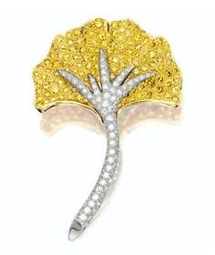 Yellow Diamond and Diamond 'Gingko Leaf' Brooch, Tiffany & Co. (oh Tiffany how DO you do it...sigh)