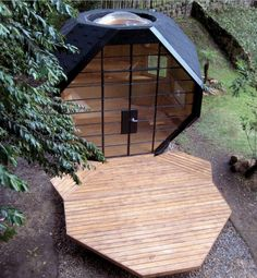 pre-fab Polyhedron... would be awesome studio, detached office or yoga center/deck