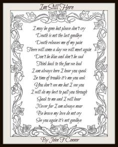 Death is not the last goodbye Miss Mom, Miss You Dad, In Loving Memory Quotes, The Last Goodbye, Grief Poems, Son Poems, Funeral Poems, Funeral Readings, Sympathy Quotes