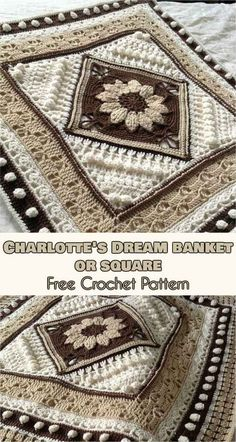 Charlotte Large Square or Blanket [Free Crochet Pattern]