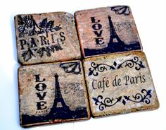 Shop for coasters on Etsy, the place to express your creativity through the buying and selling of handmade and vintage goods. Coaster Crafts, French Style Homes, Drink Coasters, Future House, House Ideas, Interior Design, Drinks, Creative, Handmade