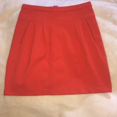 Summer skirt! Sale! Perfect summer skirt ! Orange /red coral color: reposhing , didn't end up fitting me Skirts Midi