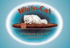 White-Cat Cigars 24x36 Giclee
