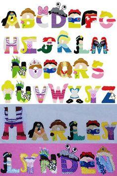 Princess Embroidery letters Disney por BowsAndClothesDesign en Etsy