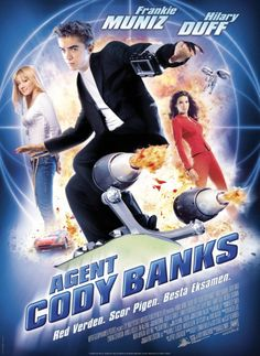 Agent Cody Banks , starring Frankie Muniz, Hilary Duff, Andrew Francis, Angie Harmon. A government agent trains Cody Banks in the ways of covert operations that require younger participants. #Action #Adventure #Comedy #Crime #Family #Romance #Thriller