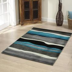Oversized Rugs - Size / Shape: X Trendy Colors, Vibrant Colors, Online Furniture Stores, Modern Area Rugs, Round Rugs, Rugs Online, Floor Rugs, Blue Grey, Wave