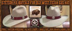 Stetson (4X) Buffalo Fur Old West Texans Gus Hat