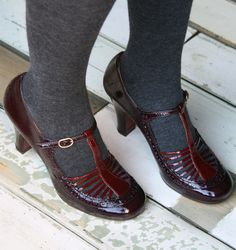 Chie Mihara -- Quiri Grape shoes.  I wish they would show the shoes without distracting socks and tights.