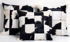 These cowhide pillow cases from Kaymanta​ make a major statement. | See more: https://luxesource.com/resources/kaymanta. | #luxeFL